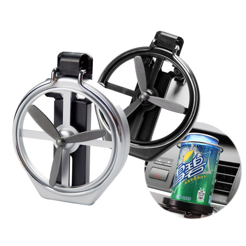 Car Air Outlet Drink Holder Car Case Water Cup Holder Car Drink Holder With Small Fan Auto Universal Interior Accessories