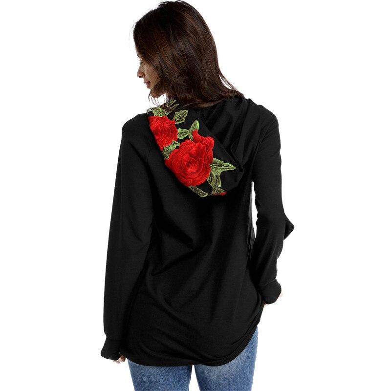 HTB1v609RVXXXXcQXpXXq6xXFXXXz - FREE SHIPPING Floral Black Women Sweatshirt Hoodie JKP221