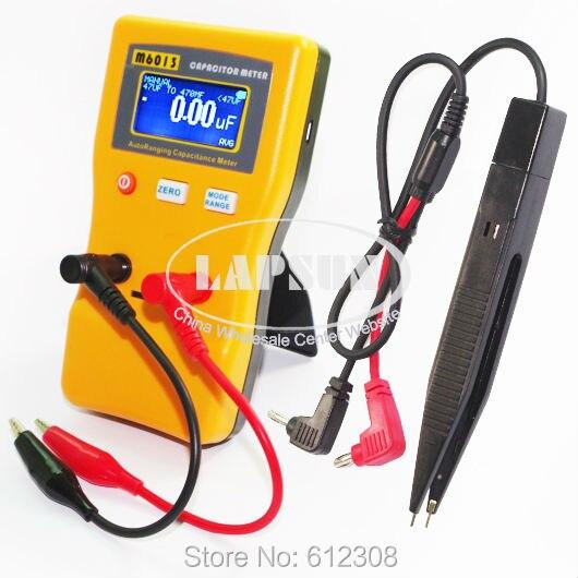 Цифровой конденсатор с автоматическим выбором диапазона тестер емкости 0, 01 пФ до 470 МФ M6013 AutoRange + 2 пары тестовых щупов