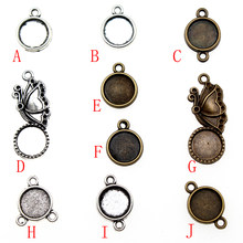 1 Piece 10mm Round Glass Cabochon Base Setting Pendant Tray For Jewelry DIY Making(China)