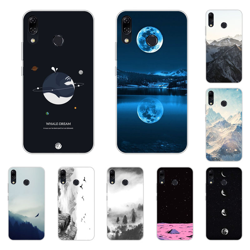 Asus Zenfone 5 ZE620KL Case,Silicon view Space Painting Soft TPU Back Cover for Asus Zenfone 5Z ZS620KL Phone bags