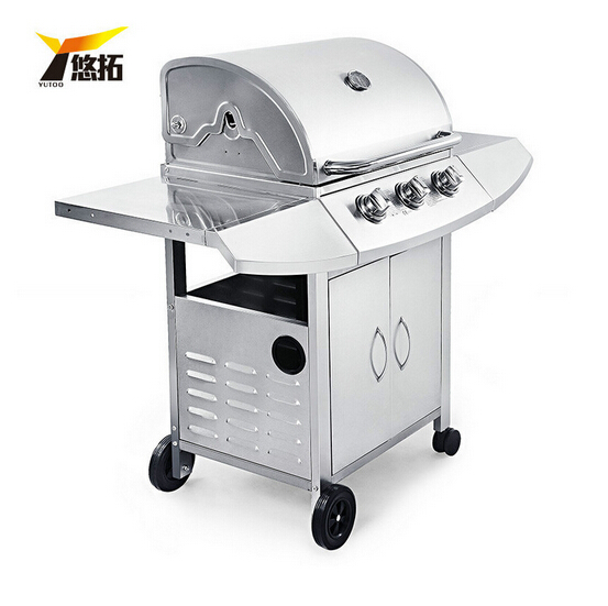 Outdoor gas stove,GaiaBBQ, 1 pcs, Multi-function courtyard home BBQ grill three exports,Three stoves