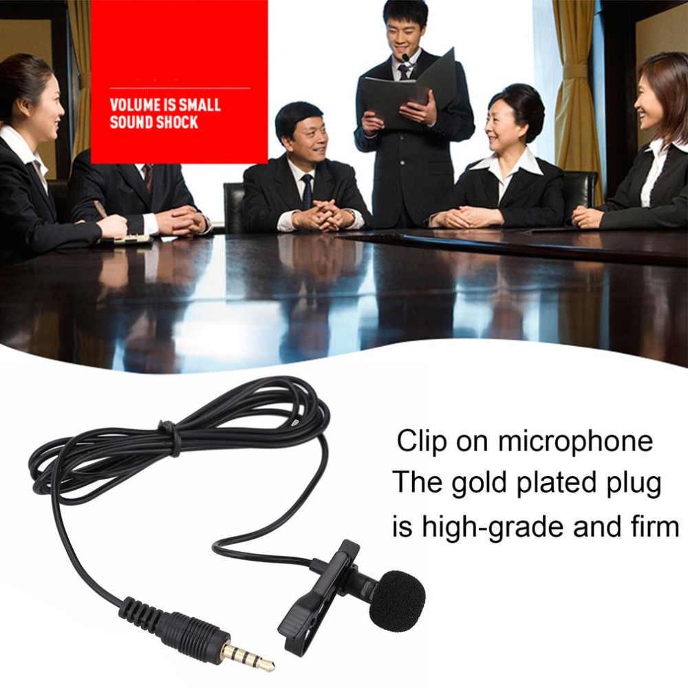 محمول صغير Lavalier Mic 3.5 مللي متر جاك التعادل كليب الميكروفونات هاتف ذكي تسجيل الكمبيوتر كليب على التلبيب للتحدث الغناء الكلام