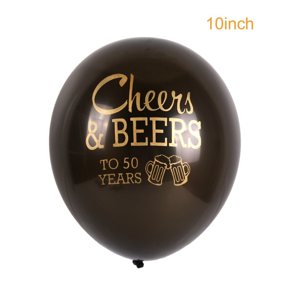 PATIMATE Cheer Beers Happy Birthday Helium Balloons Anniversary inflatable Balloons Weeding Party Supplies Latex Balloons Favors in Ballons Accessories from Home Garden