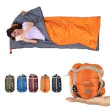 LIXADA 190*75cm kopertowy śpiwór dla dorosłych Camping Outdoor Mini Walking beach śpiwory ultralekka torba podróżna wiosna jesień