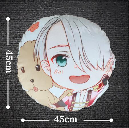 Yuri!!! on Ice Victor Nikiforov Cushion Throw Pillow 45*45cm Plush Doll Cushion/ Keyring Strap Keychain Free shipping