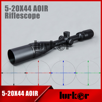 Tactical 5 20X44 AOIR Optics Riflescope Red Green Blue Color Reticle Illumination Rifle Scope For Hunting