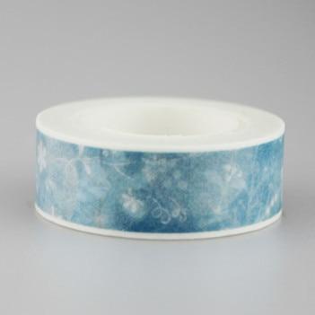 1.5cm Fresh Snowflake Washi Tape Masking Tape DIY Decoration Scrapbooking Sticker Label Masking Tape School Office Supply