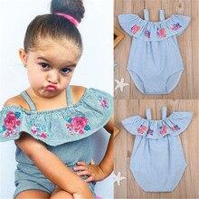 Newborn Baby Girls Striped Summer Bodysuit