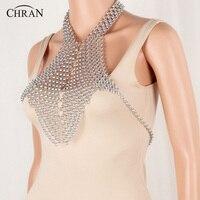 CHRAN Unique Design Statement Silver Chian Necklace Brand Jewelry Accessories Wholesale Classic Sexy Full Body Chain
