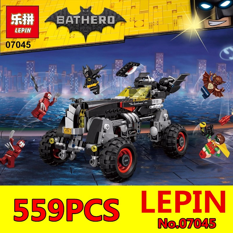 LEPIN 07045 559Pcs Super Heroes Batman The Batmobile Educational Building Blocks Bricks New Year Gift Toys for Children 70905