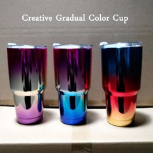 Stainless steel gradient color Iceberg cup insulating UV plating automobile
