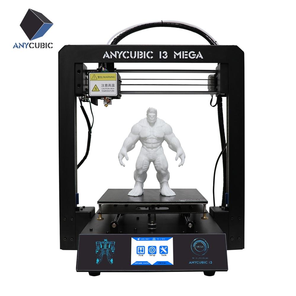 2017 новые anycubic 3D принтер i3 Мега металлический Сенсорный экран ЖК-дисплей 3D печать высокого precisio 1 кг нити и 8 г SD карты в качестве подарка