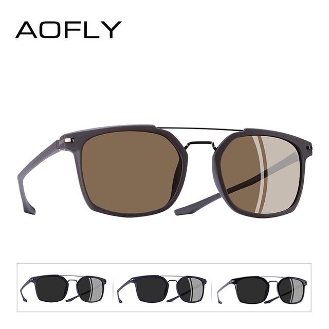AOFLY BRAND DESIGN Classic Polarized Sunglasses Men Driving TR90 Frame Sunglasses Goggles UV400 Gafas Oculos De Sol AF8091 3