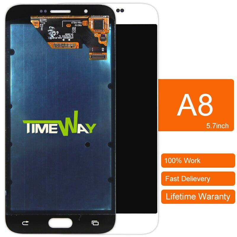 Dhl 1 unids piezas del teléfono móvil para samsung galaxy a8 a8000 pantalla lcd