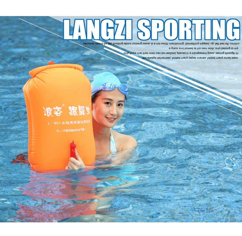 Inflatable swimming storage bag float bag life buoy pool floaties dry bag for swimming drifting