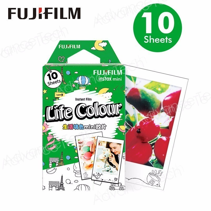 2017 NEW Original Fujifilm Instax mini life colour film (10 sheets) for Polariod Camera Instant mini7s 25 50s 90Share SP1 lomo