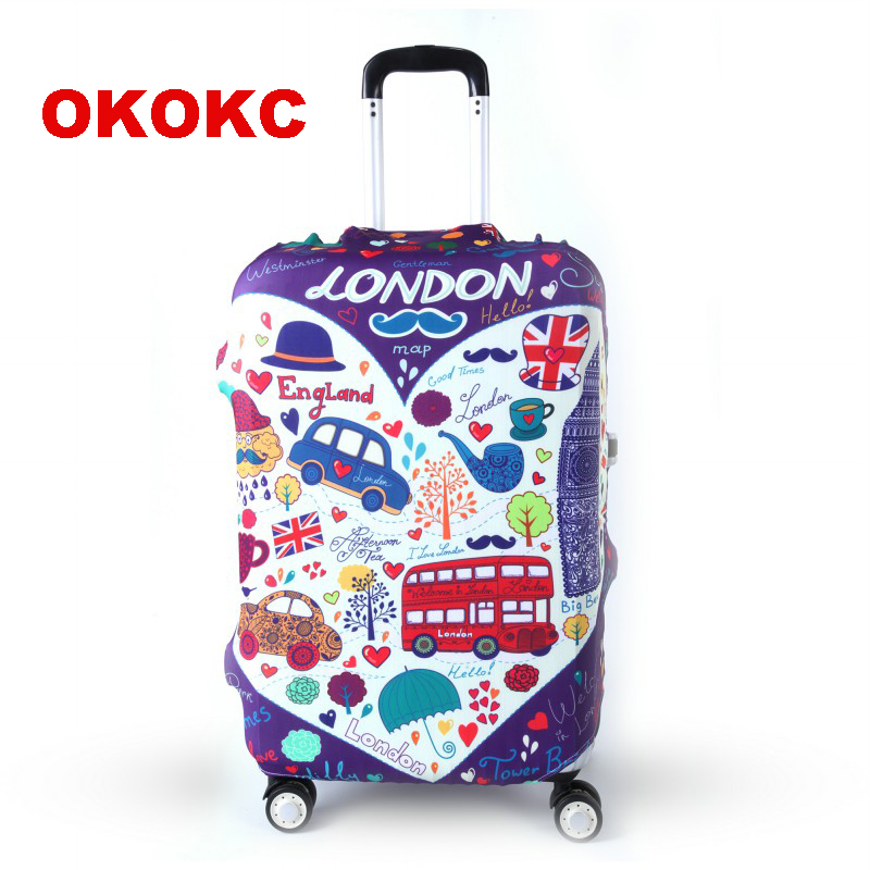 OKOKC Travel Elastic Luggage Suitcase Cover For 19''-32'' Trolley Suitcase, Travel Accessories
