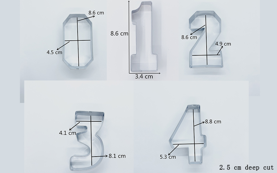 Numbers Cookie Cutter Set  (9 Pieces) 1