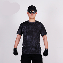 Military Camouflage Kryptek Tactical T Shirt Hunting T Shirt Breathable Sport Quick Drying T Shirt