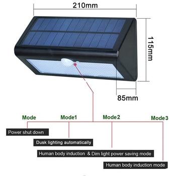 38leds 3in1 solar Motion Sensor light solar path light outdoor garden lampada solar garden lamp