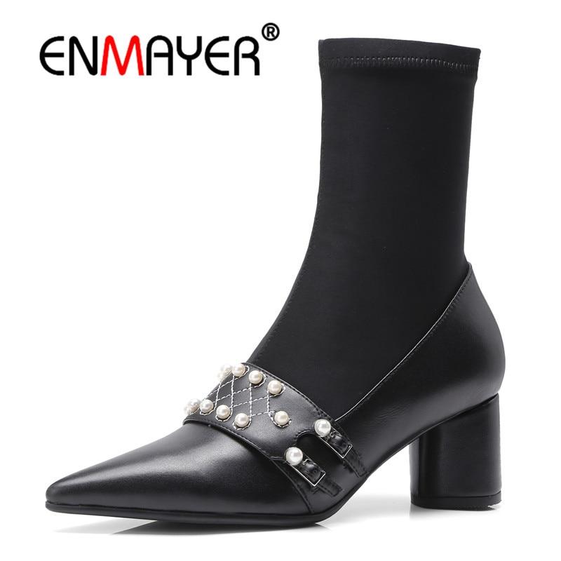 a5ab6582 Punta Zapatos Casuales Mujer Talla 34 De Bolso Black Botas Moda ...