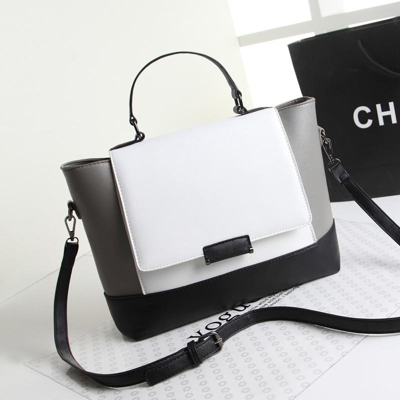 Women Handbag Black White Element Hand Take Single Bag цена