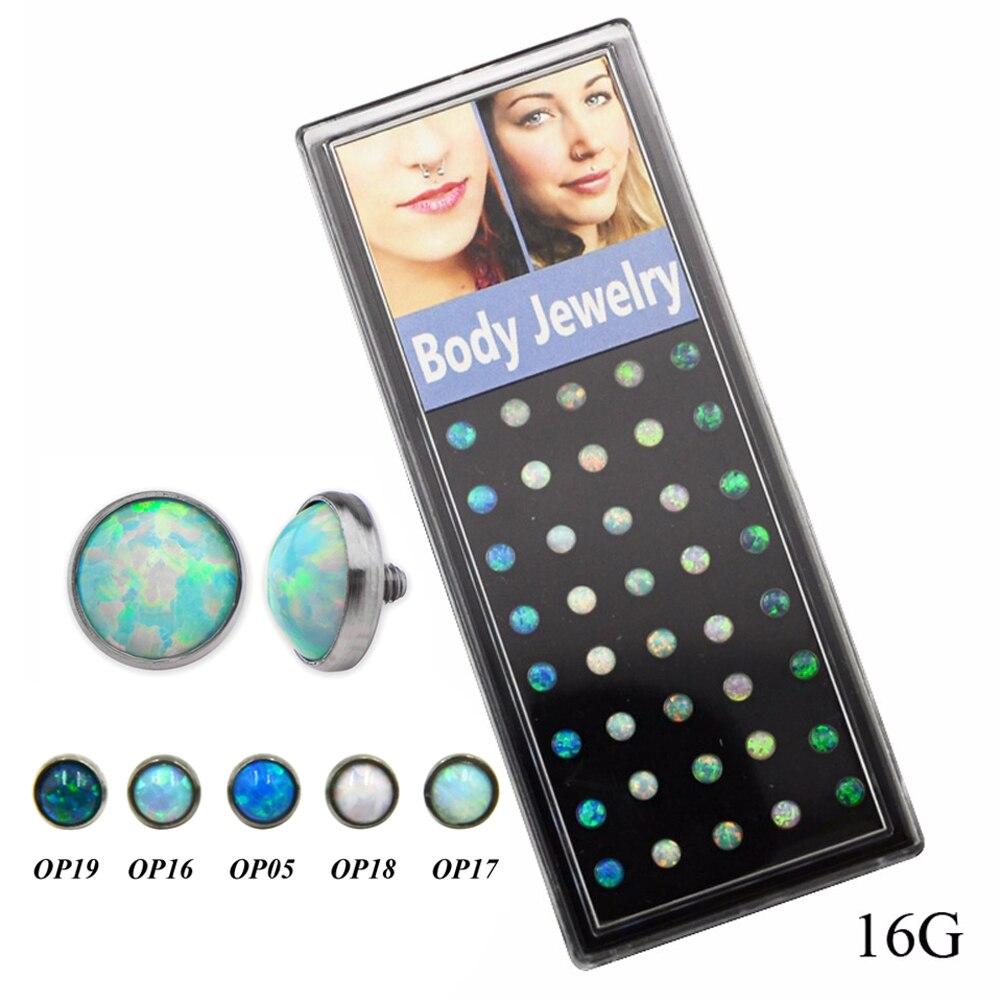 Opal Stone peau conducteur Dermal Ancre en acier inoxydable Body Piercing Jewelry nouvellement