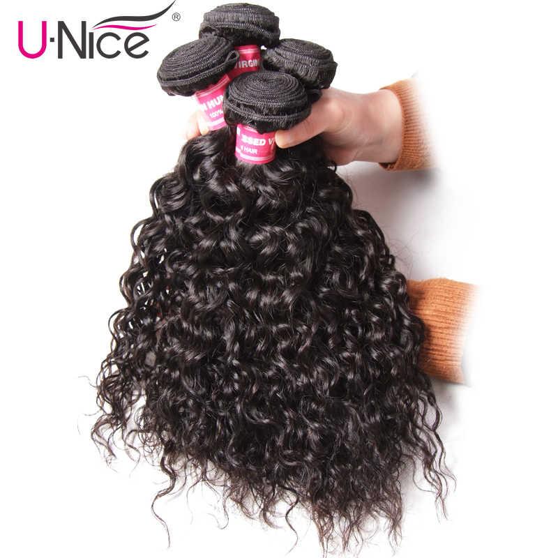 Волосы UNICE перуанская волна пучки 3 шт Уток 100% человеческих волос ткет натуральных цветов пучки волос Remy 8-26 дюймов Бесплатная доставка
