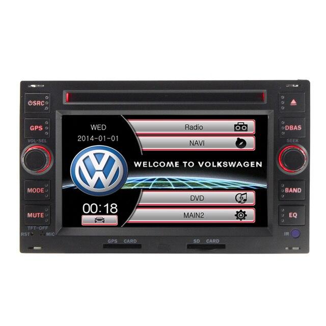 Alta qualidade 2 din 6 polegada para volkswagen vw golf 4 passat B5 POLO BORA Carro Dvd multimídia Player Controle Volante mapa Livre