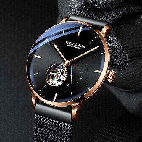 SOLLEN Top Mens Watches Top Brand Luxury Automatic Mechanical Watch Men Full Steel Business Waterproof Fashion Sport Watches Karachi