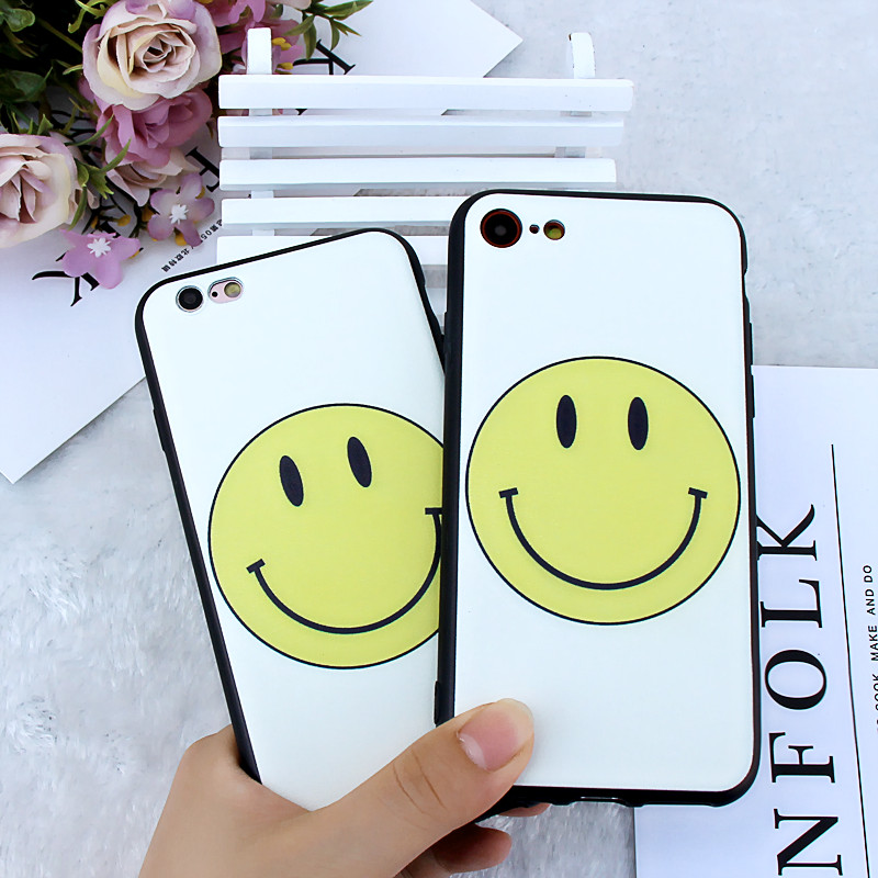 MPCQC Fashion Clear Smiley Faces Emoticon Emoji Case for iphone X 6 6s 7 8 Plus 6 7 Soft TPU Rubber Cover Expression Accessories