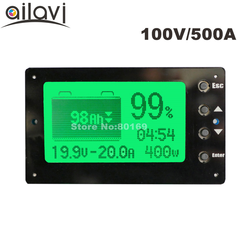 100V 500A Battery Coulometer TF03 Professional Battery Tester for LiFePo4 /Lead-acid Coulomb Counter цена