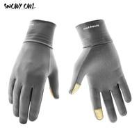 На открытом воздухе езда на велосипеде Бег зимние теплые Lyca перчатки Сенсорный экран спортивные перчатки, приятные на ощупь варежки для Для...