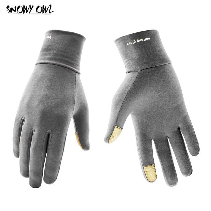 Открытый Велоспорт Бег зимние теплые Lyca перчатки Сенсорный экран перчатки спортивные перчатки варежки для мужчин женщин h23
