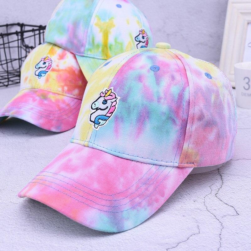 2019 New Girls Heart Unicorn Institute Wind   Baseball   Hat Summer Cartoon Sweet Cute Curved   Cap   women hats