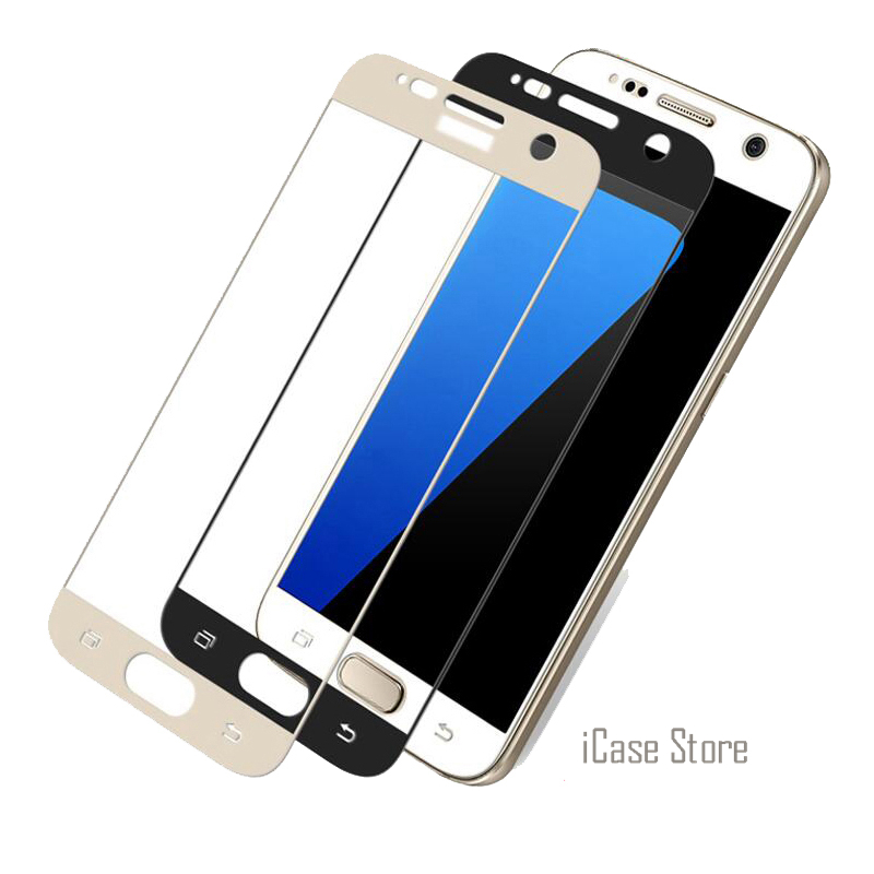 Full Cover Colorful Screen Protector Tempered Glass For Samsung Galaxy A5 A3 2017 A7 A8  ...