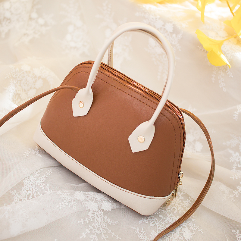 Women Shoulder Cross Body Bags Ladies Handbag Tote Messenger Satchel Bag Shell Shape Zipper Closure