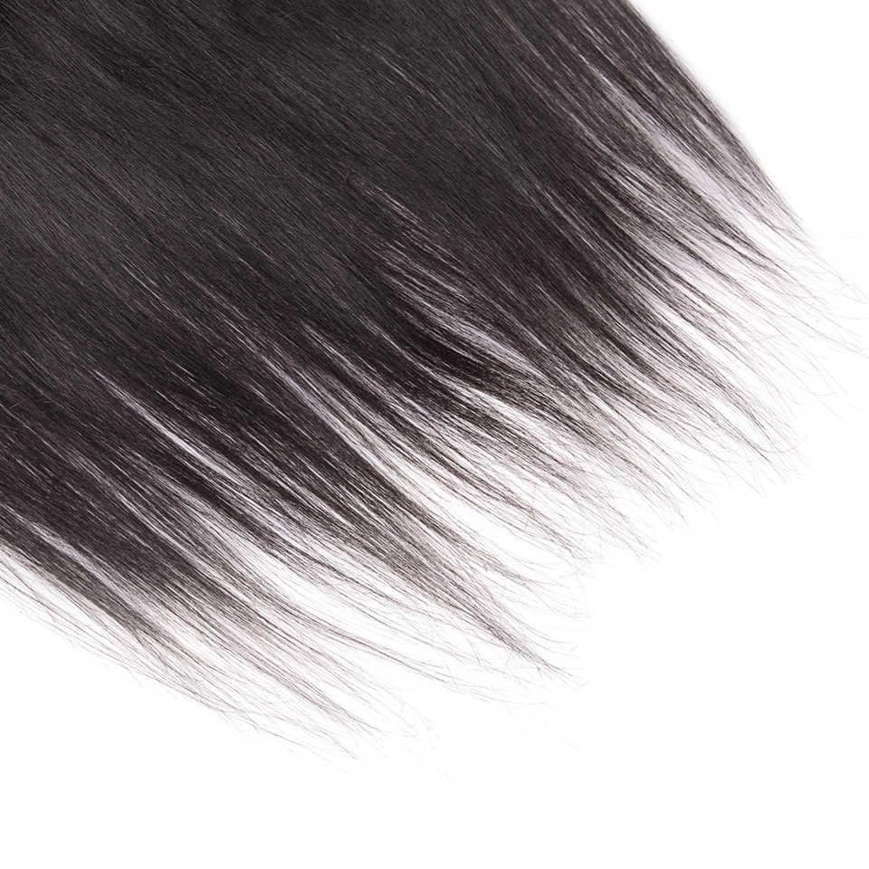 CEXXY Rambut Lace Frontal Penutupan Brasil Remy Rambut Renda Frontal 13X4 Warna Alami Gratis Pengiriman Telinga telinga Frontal
