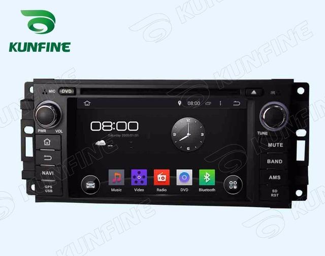 Quad Core 1024*600 Android 5.1 Car DVD Player de Navegação GPS Som Do Carro para Jeep 2005-2007 Rádio 3G Wifi Bluetooth