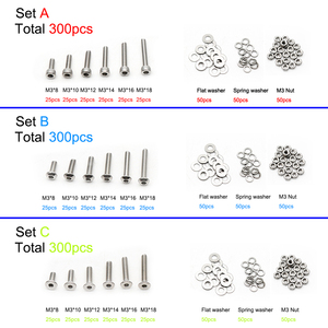 300pcs M3 304 Stainless Steel