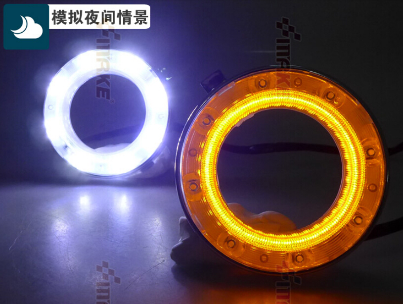 New Arrival Led Drl Daytime Running Light For Subaru Forester 2009 2012 Dimmer Function Yellow Turn