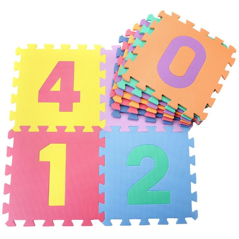 10 Pcs/set Baby Play Mats Number Letter Puzzle Mat Carpet Developing Rug Floor Puzzle EVA Foam For Child Toys Mat 30*30*0.8cm