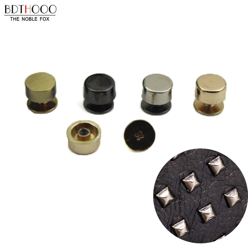 10pcs Bag Bottom Studs Rivets For Leather Buttons Screw For Clothes Shoes Bags Hardware Belt Accessories For Bag Feet Screw Moderate Price Bag Parts & Accessories