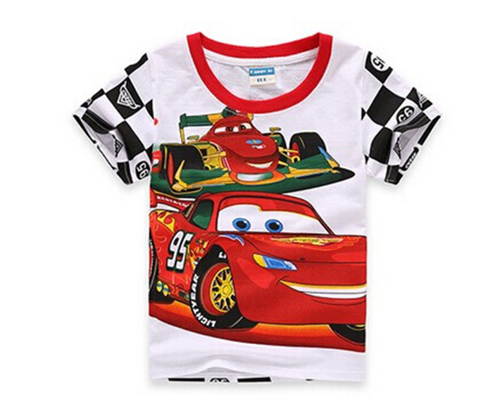Baby Boys Summer T Shirt Short Sleeve Cartoon T-shirt Kids Top Tee Clothes Children Fashion Cars Shirt Summer Style