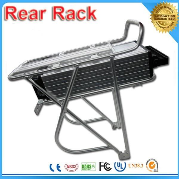Bicycle Battery Rack Rear Shelf Rear Rack Mount Carrier for 36v 48v battery