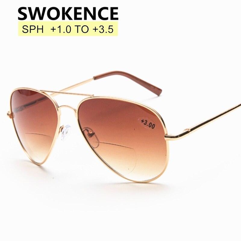 SWOKENCE Dual-purpose Leitura Óculos De Sol Óculos De Dioptria + 1.0 a + 3.5 Dos Homens Das Mulheres Anti Fadiga Moda Óculos Para Presbiopia r123