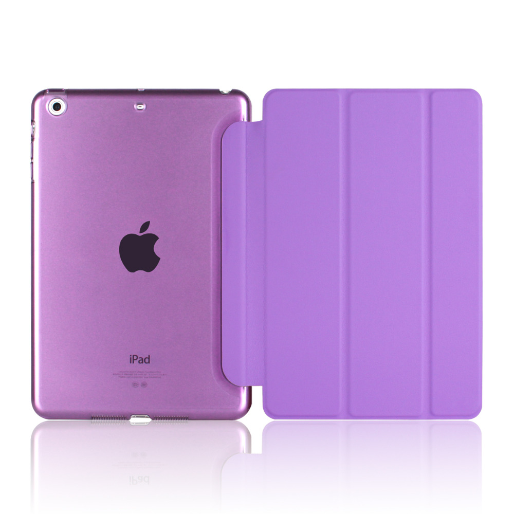New arrival Case for Apple ipad mini 1 / 2 / 3 ultrathin flip three foldings stand PU leather tablet PC Cover shell capa coque  for apple ipad mini 4 case flip grape patterns pu leather protective cover rotate tablet pc stand shock resistant coque para