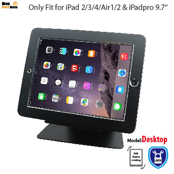Security Desktop Stand For IPad 2 3 4 Air1 2 Pro 9.7 Tablet With Lock Holder Display Rack Bracket Mounting On Table Anti-theft