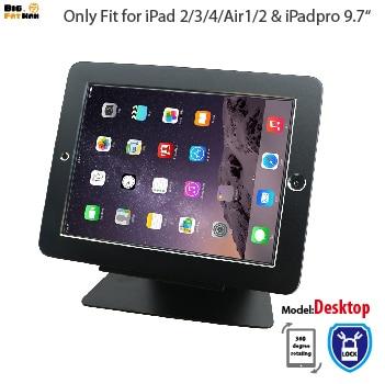 セキュリティデスクトップスタンドiPad 2 3 4 air1 2 Pro 9.7タブレット付きロックホルダーディスプレイラックブラケット取り付け台付き盗難防止